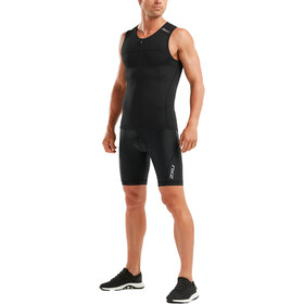 2XU Active Singlet Men black/black